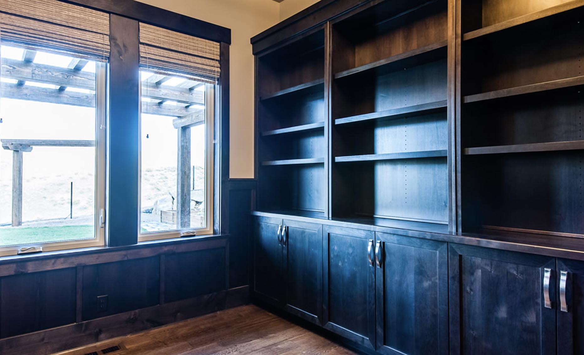 The Heavens Way House Dark Cabinetry