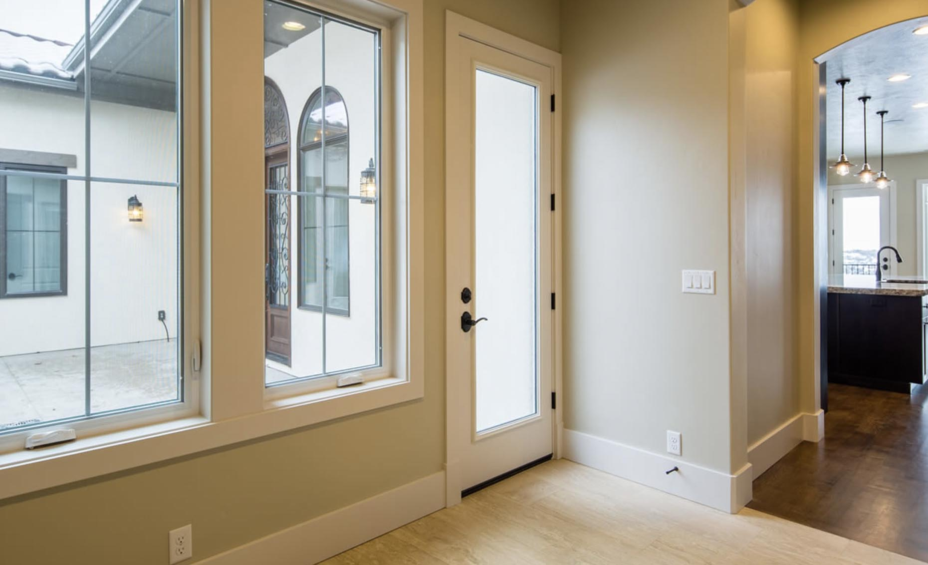 The Strata Via House Side Door Entryway