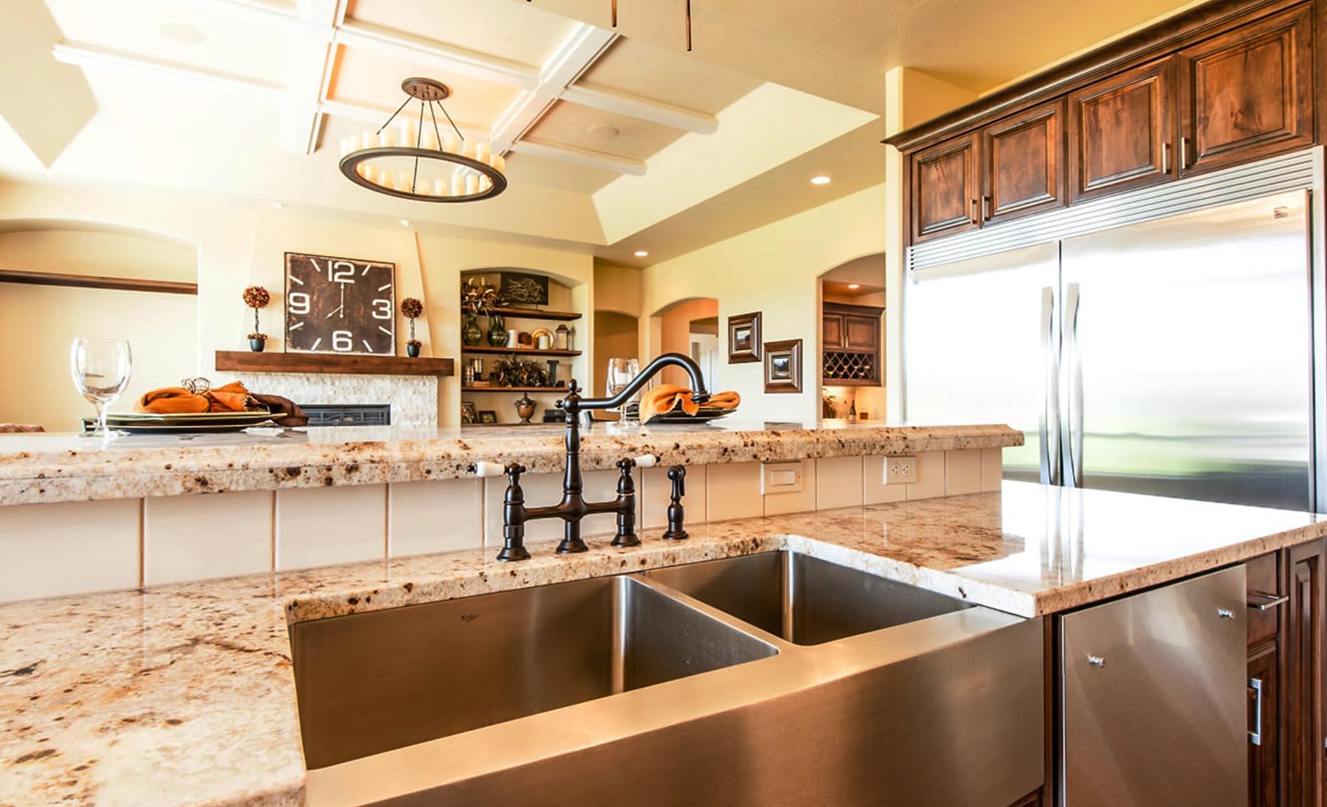 The Villa House Kitchen Island Sink