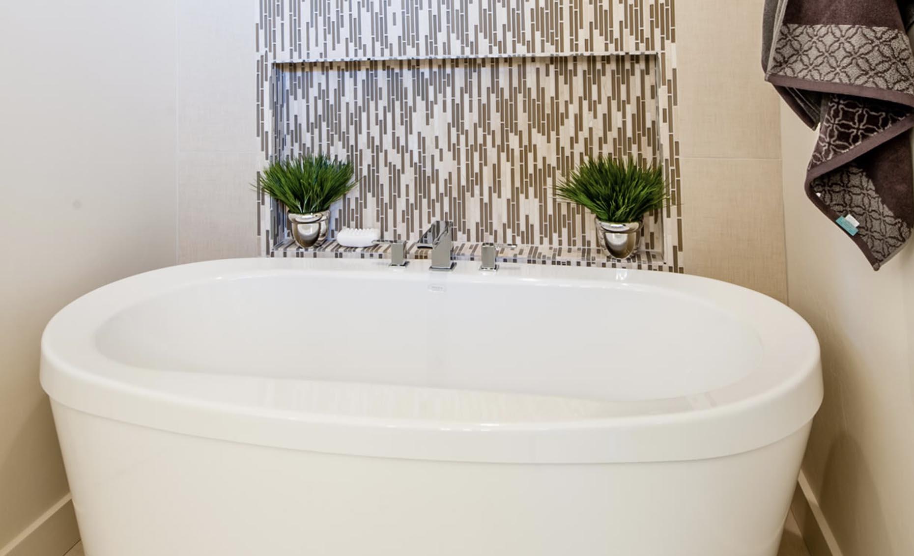 The Contemporary House Master Bathroom Bath Tub