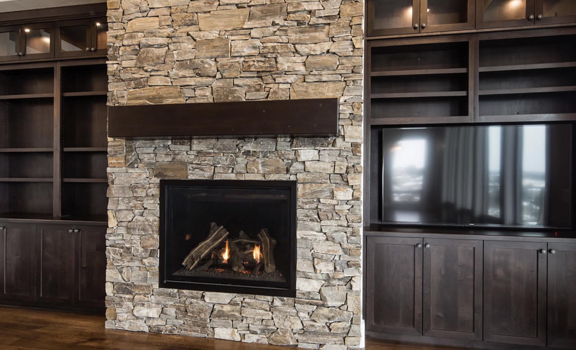 The Strata Via House Fireplace