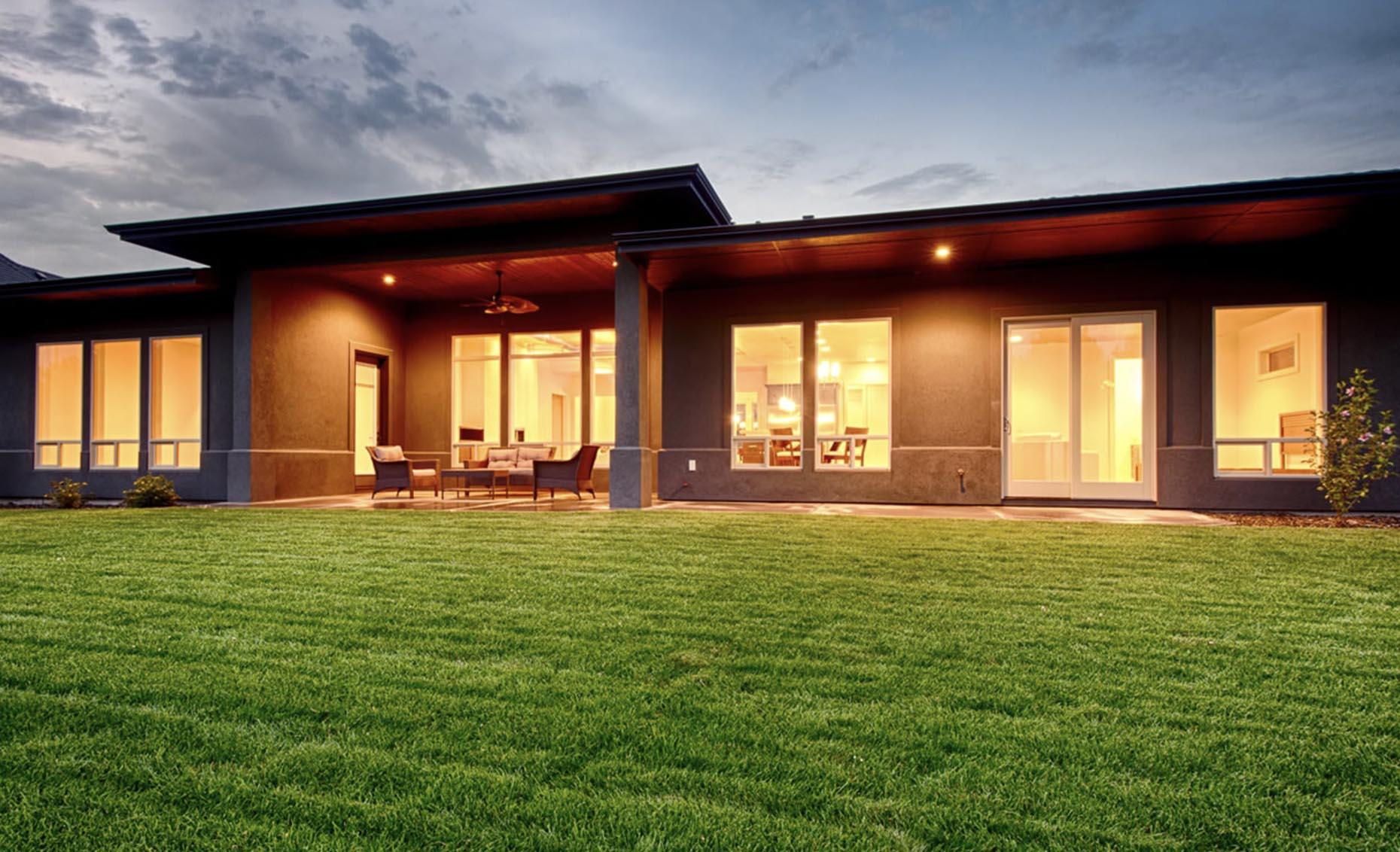 The Contemporary House Exterior Backyard View