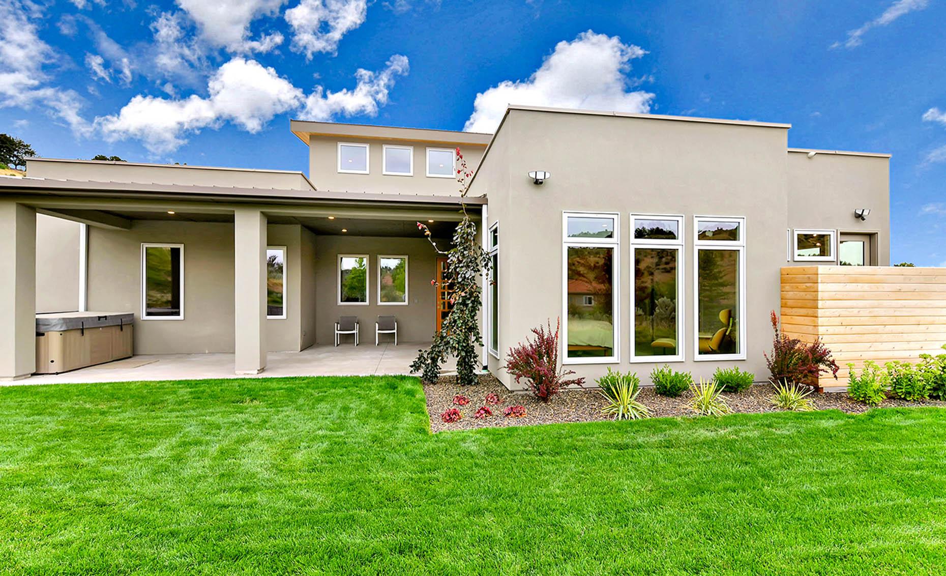 The Nature View Custom Home Backyard Exterior