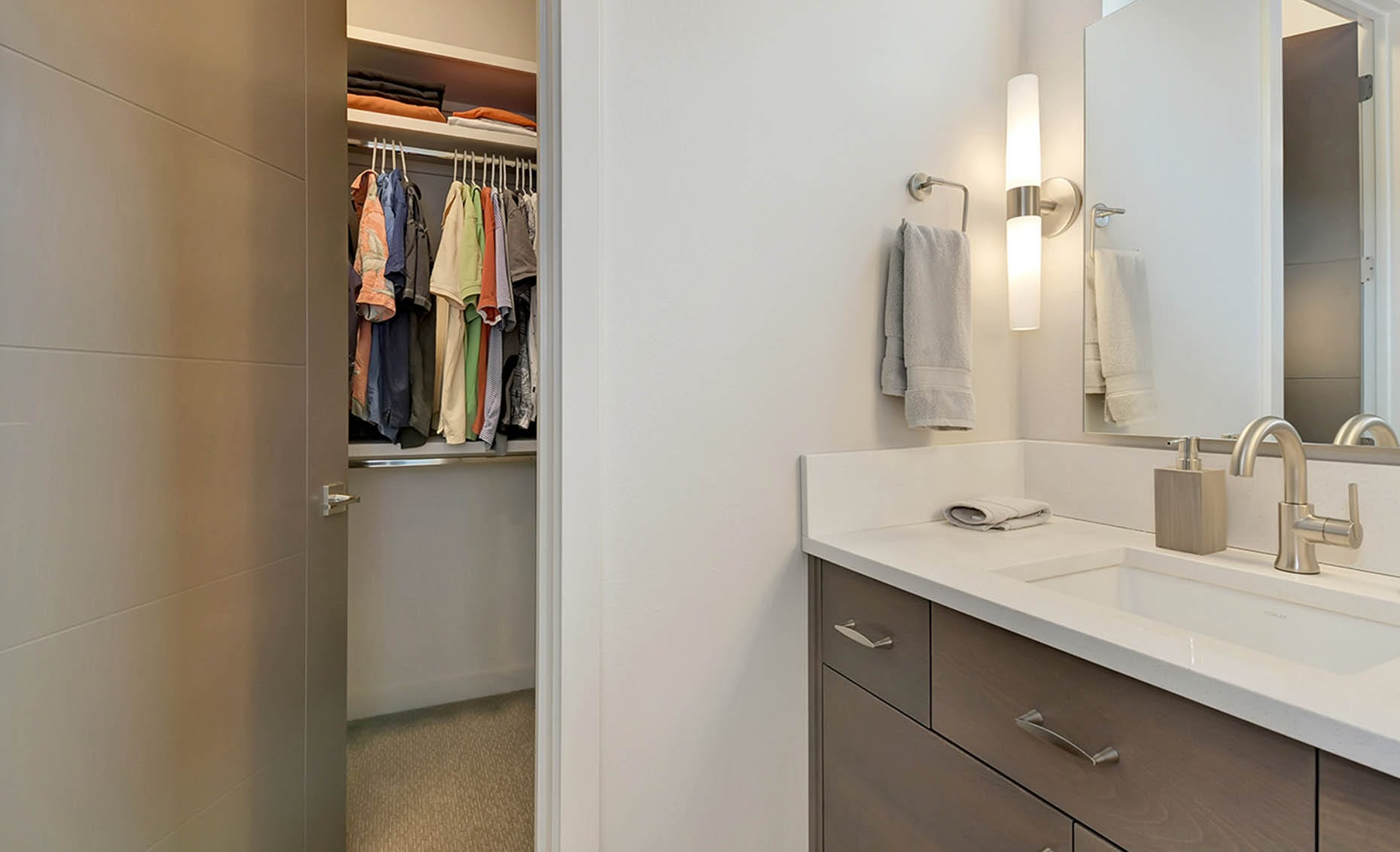 The Nature View Custom Home Bathroom and walk-in closet