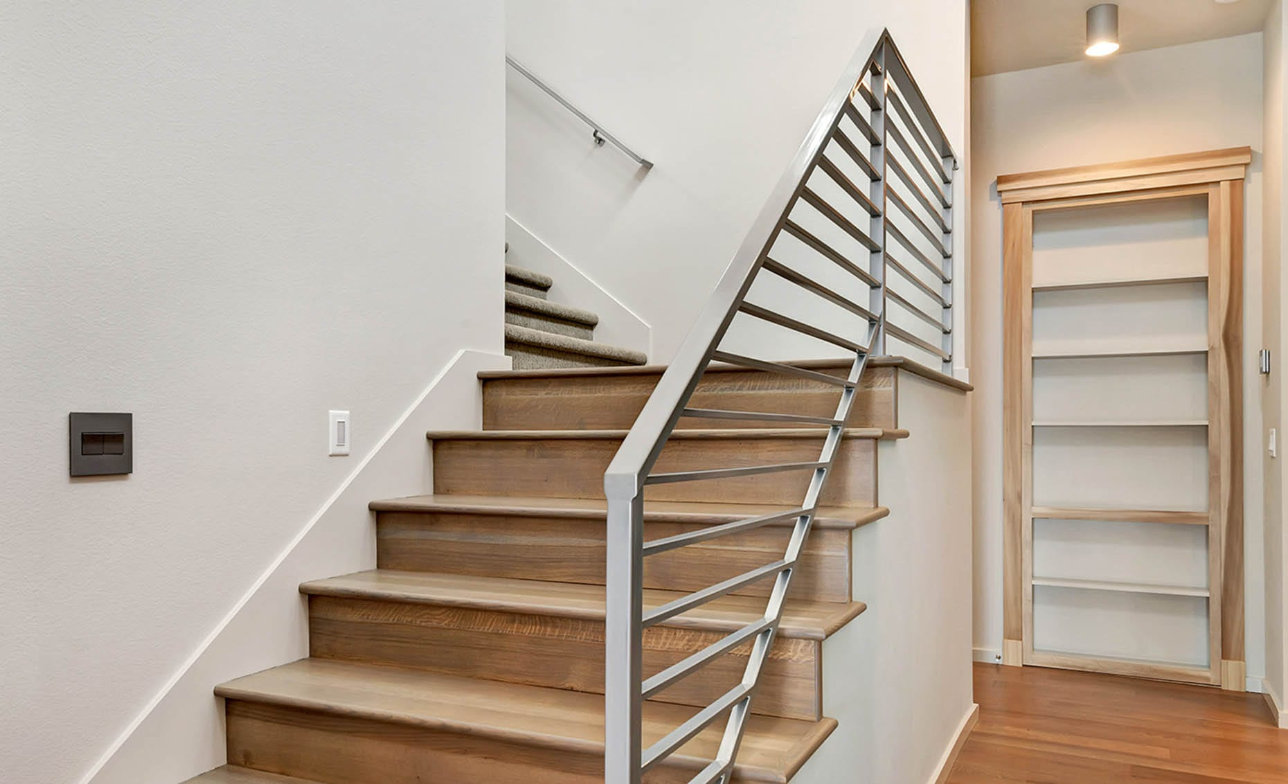 The Nature View Custom Home Stairway