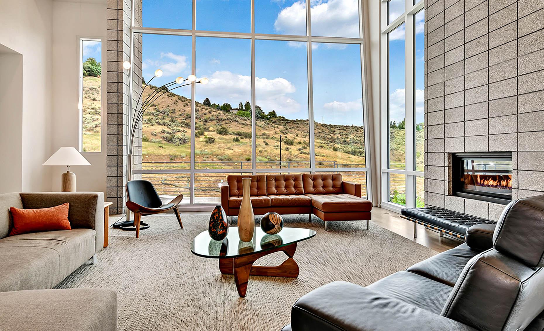 The Nature View Custom Home Living Area
