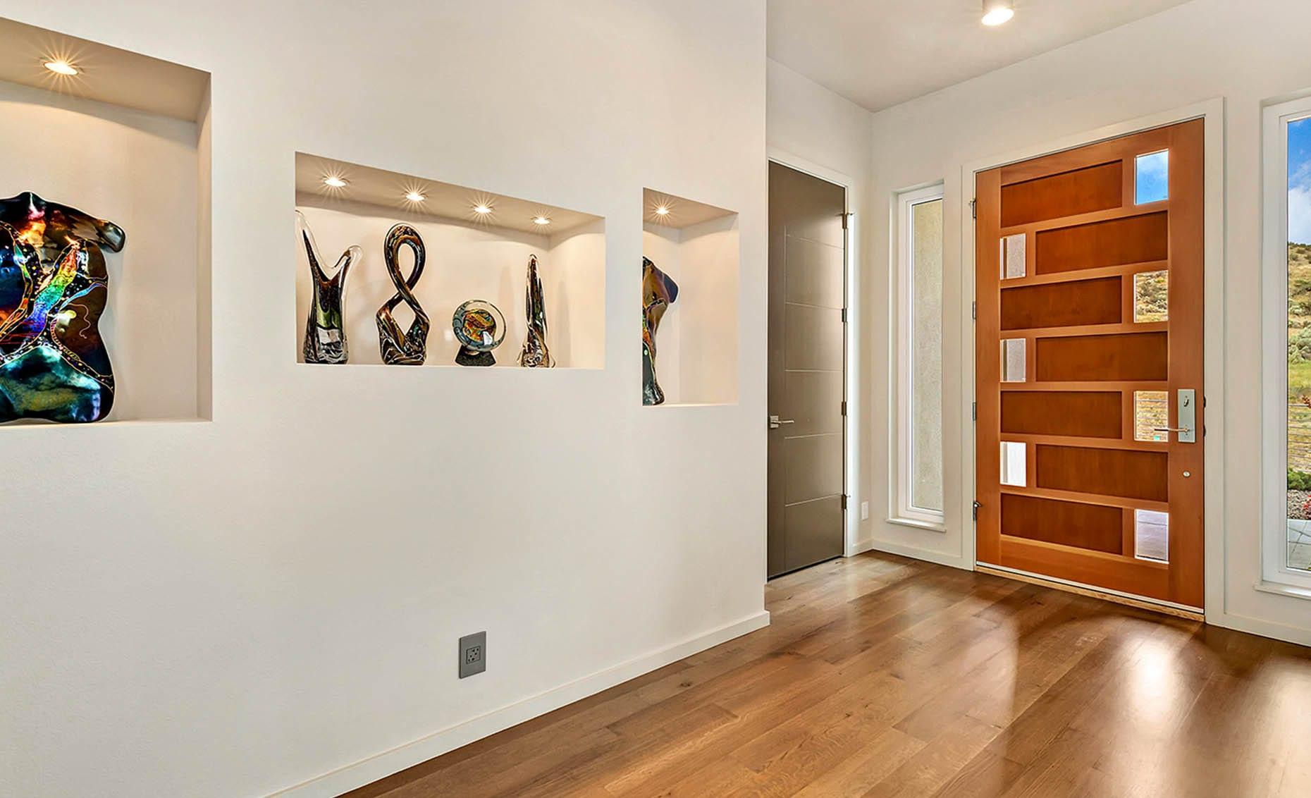 The Nature View Custom Home Entryway
