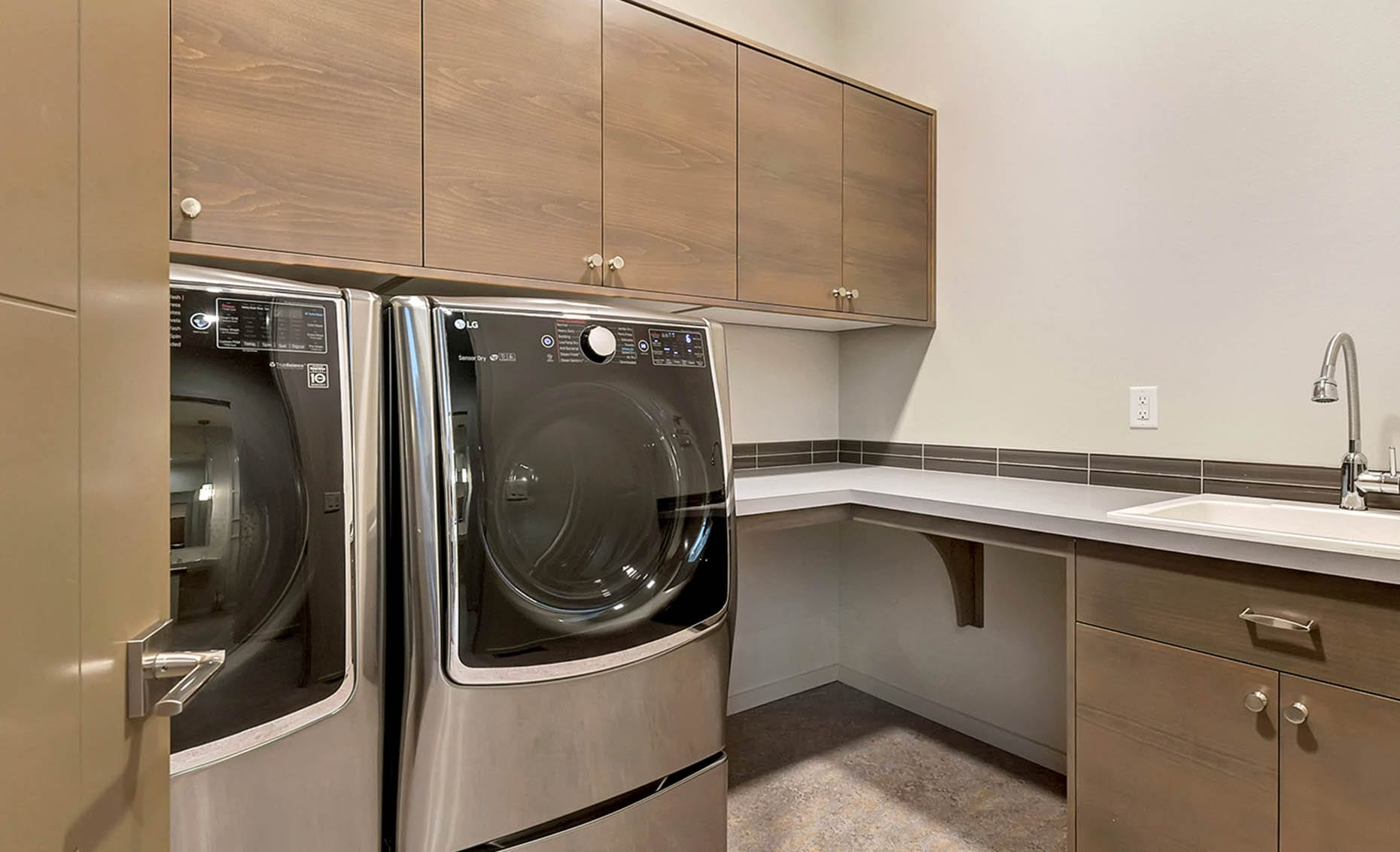 The Nature View Custom Home Laundry Room
