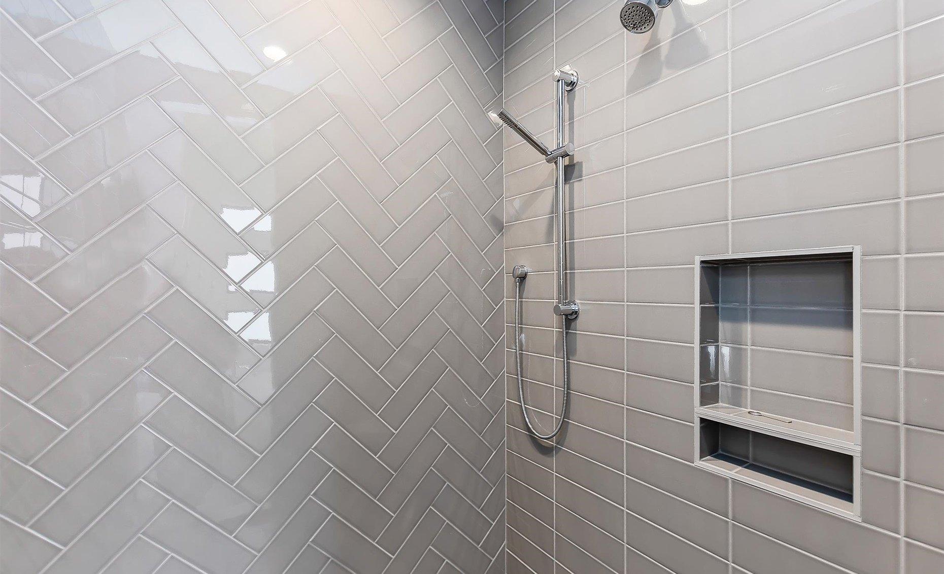 East Highland | Master bathroom shower details