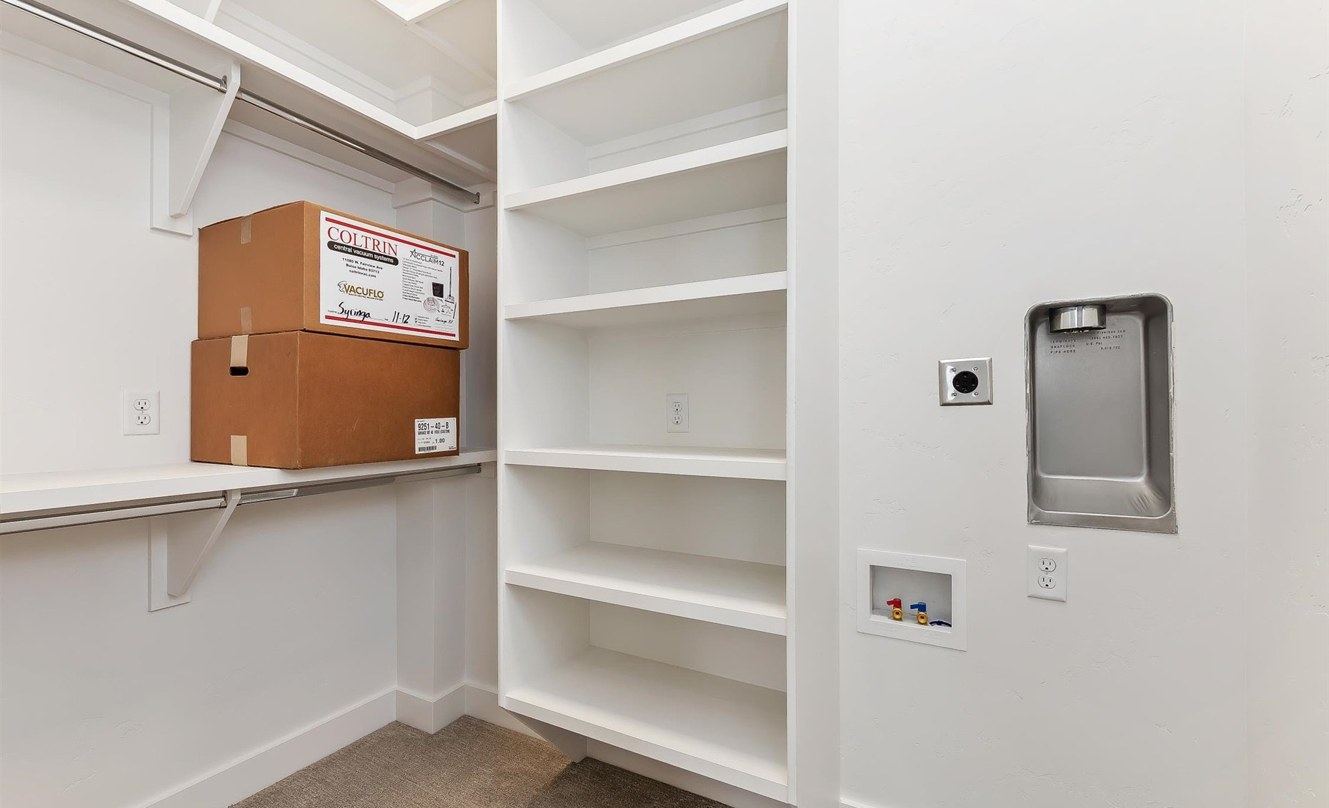East Highland | Master closet with washer and dryer hookups